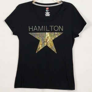 Tops - Hamilton Star Logo Sequin Embellished Graphic Tee